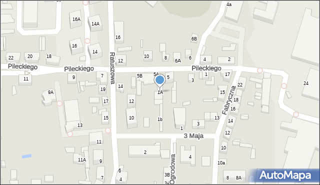 Chocianów, 3 Maja, 1A, mapa Chocianów
