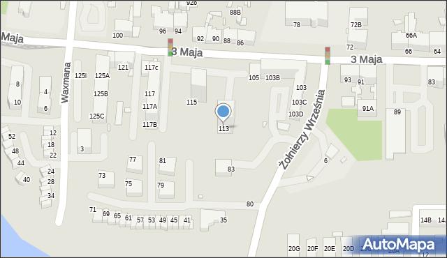 Chorzów, 3 Maja, 113, mapa Chorzów