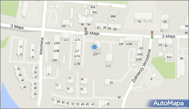 Chorzów, 3 Maja, 115, mapa Chorzów