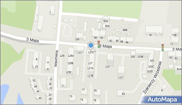 Chorzów, 3 Maja, 117c, mapa Chorzów