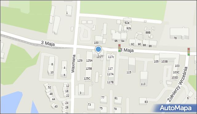 Chorzów, 3 Maja, 121, mapa Chorzów