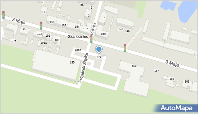Chorzów, 3 Maja, 179, mapa Chorzów