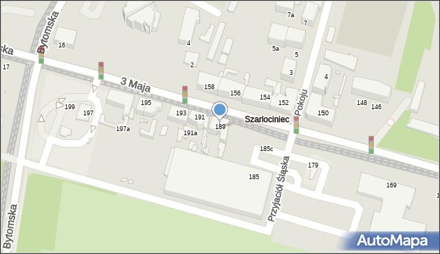 Chorzów, 3 Maja, 189, mapa Chorzów