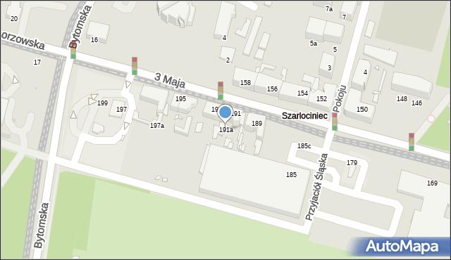 Chorzów, 3 Maja, 191a, mapa Chorzów