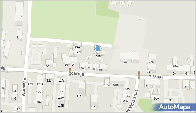 Chorzów, 3 Maja, 88B, mapa Chorzów