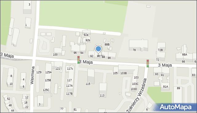 Chorzów, 3 Maja, 90, mapa Chorzów