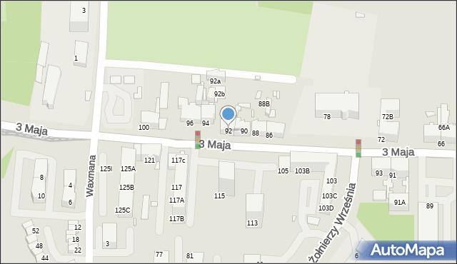 Chorzów, 3 Maja, 92, mapa Chorzów