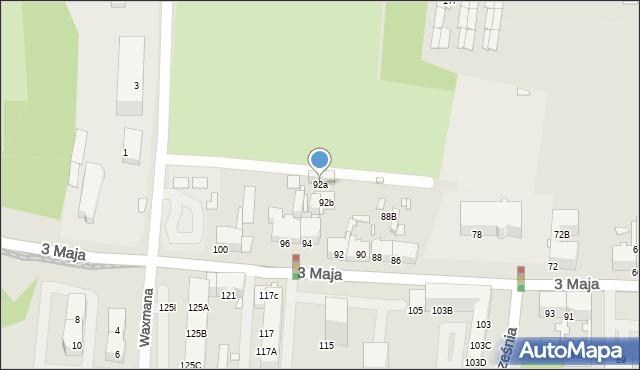 Chorzów, 3 Maja, 92a, mapa Chorzów