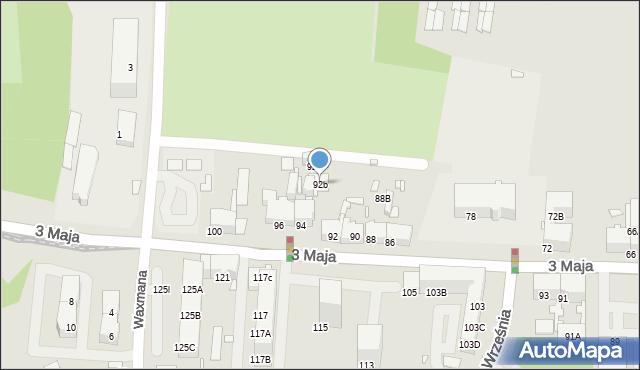 Chorzów, 3 Maja, 92b, mapa Chorzów