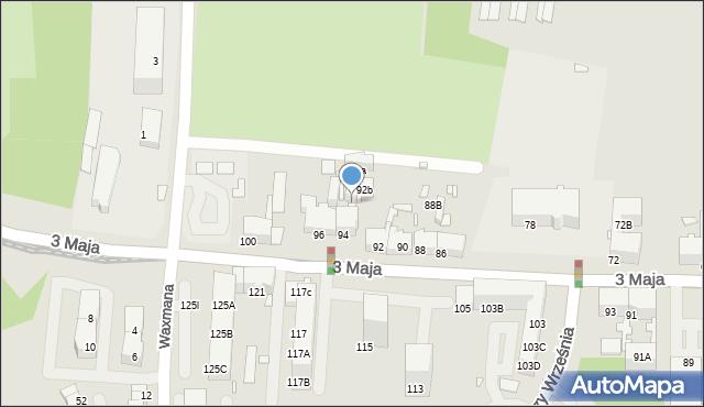 Chorzów, 3 Maja, 94B, mapa Chorzów