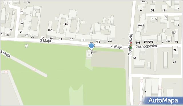 Częstochowa, 3 Maja, 1, mapa Częstochowy