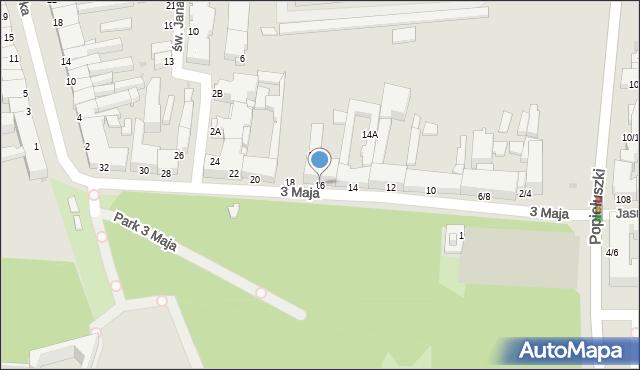 Częstochowa, 3 Maja, 16, mapa Częstochowy