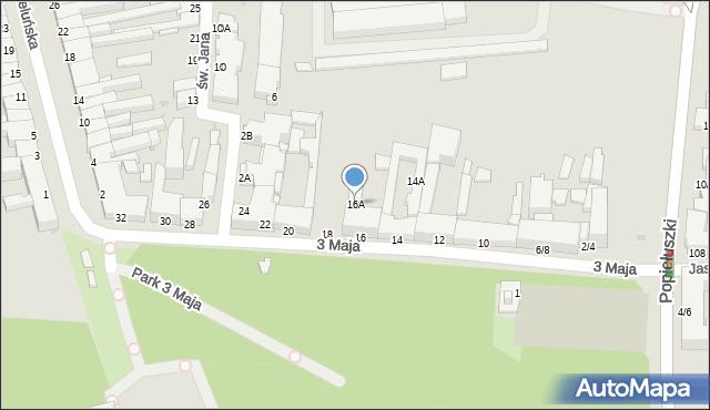 Częstochowa, 3 Maja, 16A, mapa Częstochowy