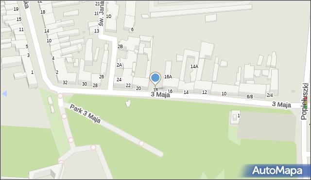 Częstochowa, 3 Maja, 18, mapa Częstochowy