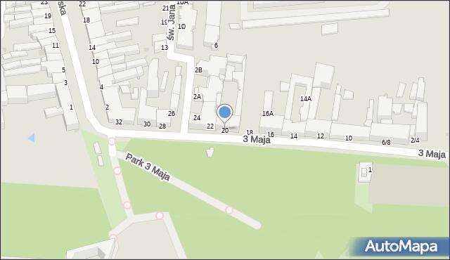 Częstochowa, 3 Maja, 20, mapa Częstochowy