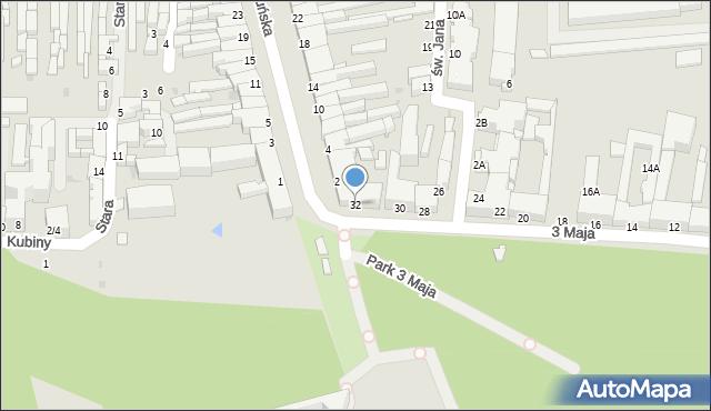 Częstochowa, 3 Maja, 32, mapa Częstochowy