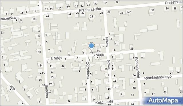 Jedwabne, 3 Maja, 13, mapa Jedwabne