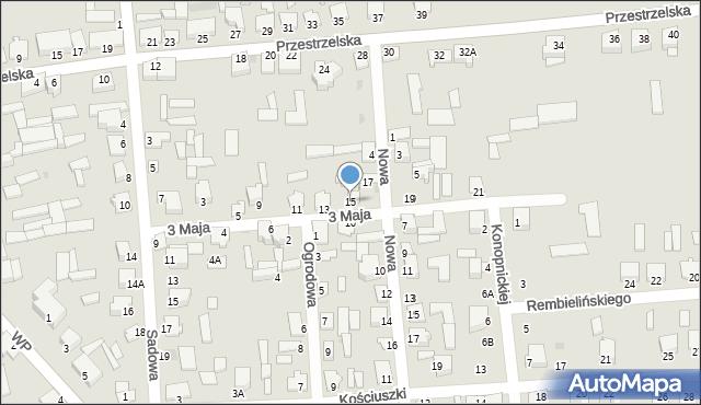 Jedwabne, 3 Maja, 15, mapa Jedwabne