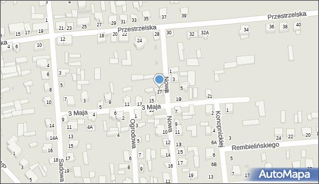 Jedwabne, 3 Maja, 17, mapa Jedwabne