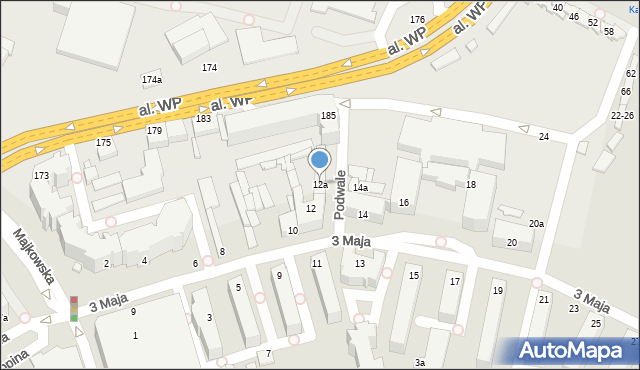 Kalisz, 3 Maja, 12a, mapa Kalisza