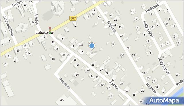Lubaczów, 3 Maja, 17, mapa Lubaczów