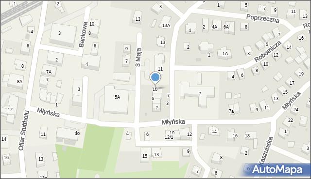 Luzino, 3 Maja, 10, mapa Luzino