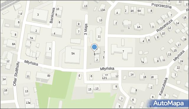 Luzino, 3 Maja, 6, mapa Luzino