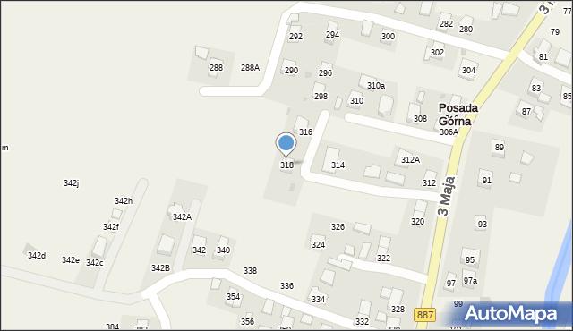 Posada Górna, 3 Maja, 318, mapa Posada Górna