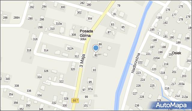 Posada Górna, 3 Maja, 91, mapa Posada Górna
