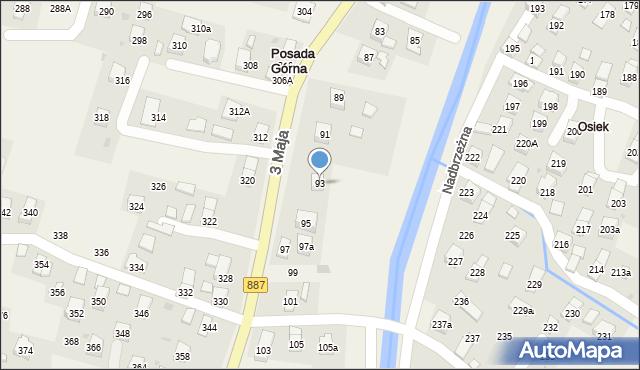 Posada Górna, 3 Maja, 93, mapa Posada Górna