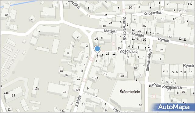 Rzeszów, 3 Maja, 1, mapa Rzeszów