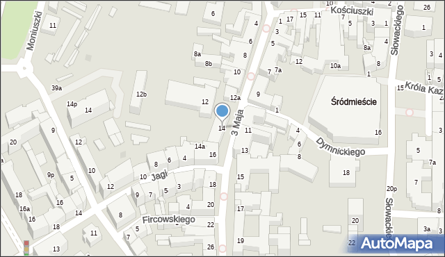Rzeszów, 3 Maja, 14, mapa Rzeszów