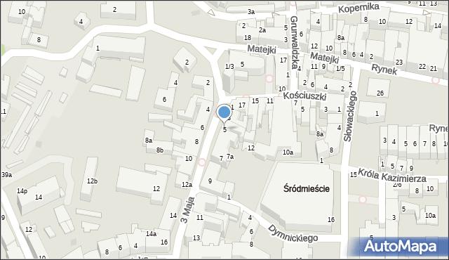 Rzeszów, 3 Maja, 5, mapa Rzeszów