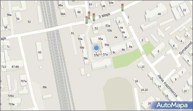 Sopot, 3 Maja, 57b, mapa Sopotu