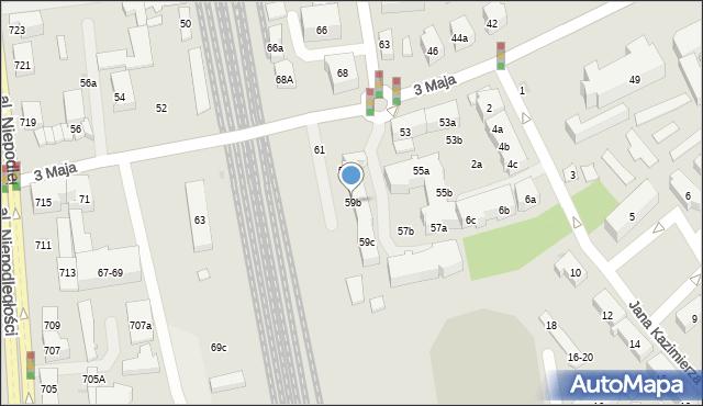Sopot, 3 Maja, 59b, mapa Sopotu