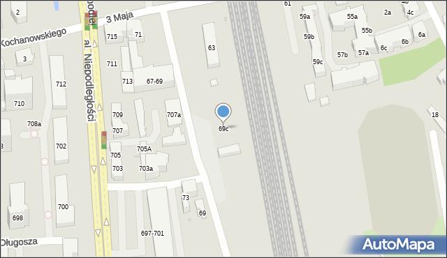 Sopot, 3 Maja, 69c, mapa Sopotu