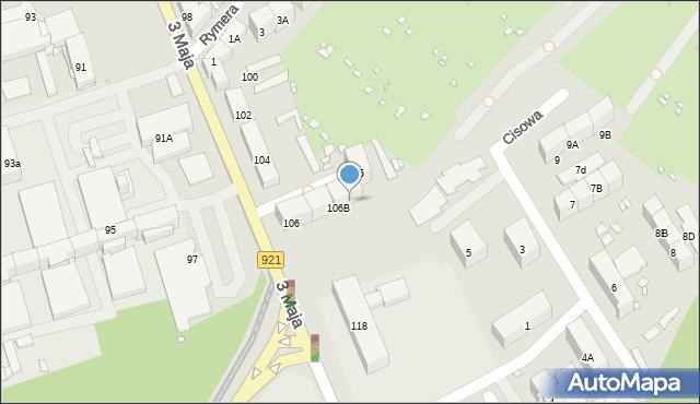 Zabrze, 3 Maja, 106C, mapa Zabrza