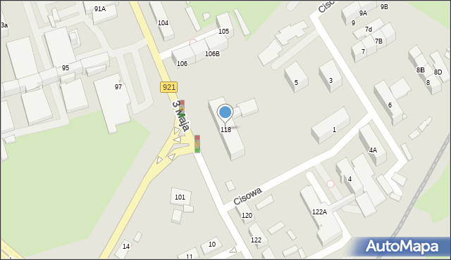 Zabrze, 3 Maja, 118, mapa Zabrza