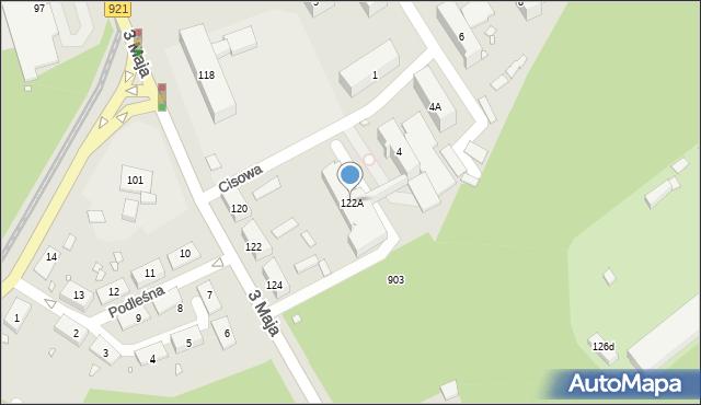 Zabrze, 3 Maja, 122A, mapa Zabrza