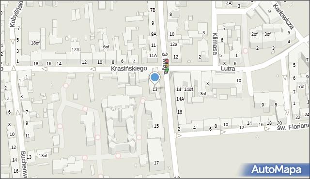 Zabrze, 3 Maja, 13, mapa Zabrza