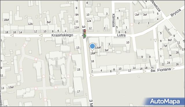 Zabrze, 3 Maja, 14A, mapa Zabrza