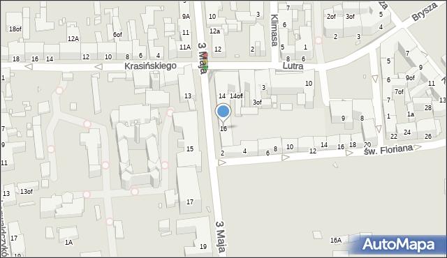 Zabrze, 3 Maja, 16, mapa Zabrza