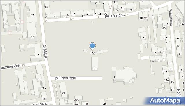 Zabrze, 3 Maja, 16A, mapa Zabrza