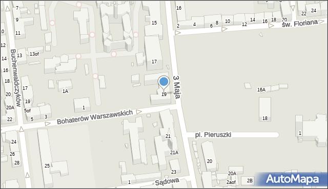 Zabrze, 3 Maja, 19, mapa Zabrza
