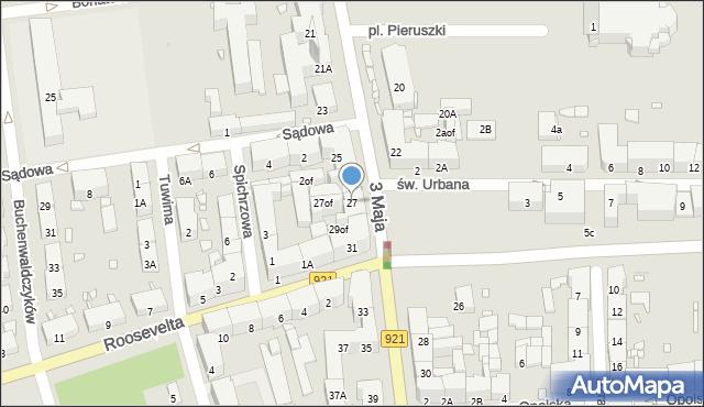 Zabrze, 3 Maja, 27, mapa Zabrza