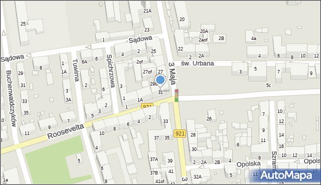 Zabrze, 3 Maja, 31, mapa Zabrza