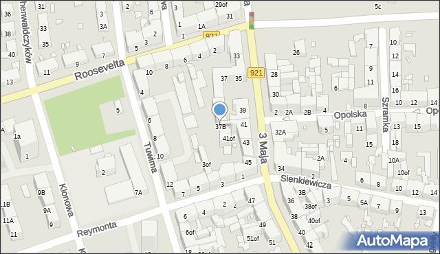 Zabrze, 3 Maja, 37B, mapa Zabrza