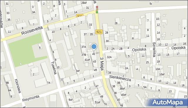 Zabrze, 3 Maja, 41, mapa Zabrza