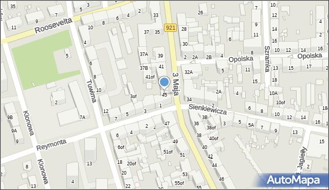 Zabrze, 3 Maja, 45, mapa Zabrza