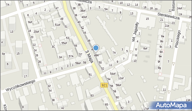 Zabrze, 3 Maja, 48A, mapa Zabrza